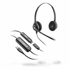 Plantronics D261N Stereo SupraPlus Headset with DA45 USB Adapter