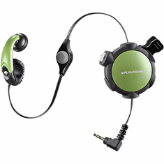 Plantronics MX300 Green Retractable Mobile Headset with 2.5mm Jack