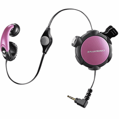 Plantronics MX300 Pink Retractable Mobile Headset with 2.5mm Jack
