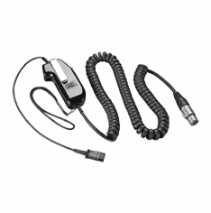 Plantronics SHS2187-03 Push-to-talk Switch with NC5MX Jack for Dynamic Microphone Headset