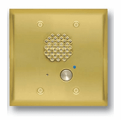 Polished Brass Double Gang Entry Phone with LED and Enhanced Weather Protection
