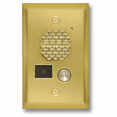 Polished Brass Entry Phone with Color Video Camera and Enhanced Weather Protection