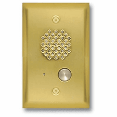 Polished Brass Entry Phone with Enhanced Weather Protection