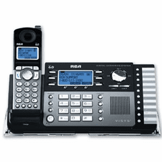 RCA-25250RE1 2-Line Cordless Multi-Handset System with Digital Answering System