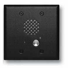 Satin Black Double Gang Entry Phone with LED