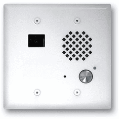 Satin White Double Gang Entry Phone with Color Video Camera and Enhanced Weather Protection