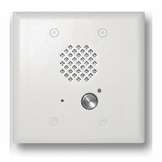 Satin White Double Gang Entry Phone with LED and Enhanced Weather Protection