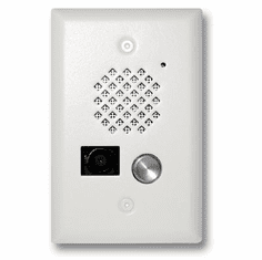 Satin White Entry Phone with Color Video Camera and Enhanced Weather Protection