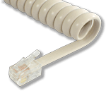 Special White Replacement Handset Coil Cord