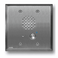 Stainless Steel Double Gang Entry Phone with LED
