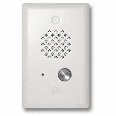 Viking Satin White Entry Phone with Enhanced Weather Protection