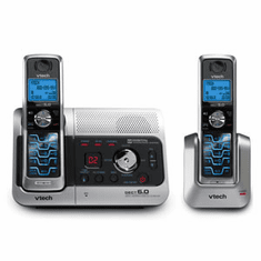 VTech VT-6042 DECT6.0 Dual Handset Cordless w/ Answering System