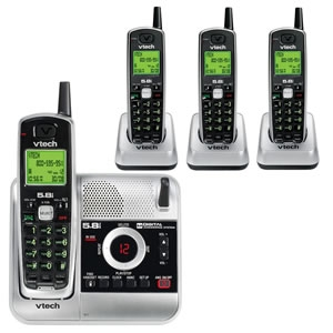 VTech VT-CS5121-4 5.8GHz 4 Handset Cordless Phone with Digital Answering System