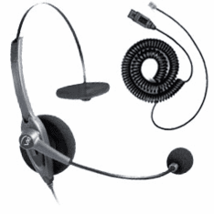 VXI Passport 10P Monaural Noise-Canceling Headset with QD1026P Headset Cable