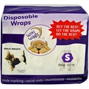 12-PACK Wiki Wags Male Dog Wraps - S (144 count)