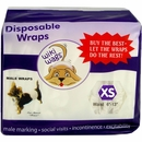 12-PACK Wiki Wags Male Dog Wraps - XS (144 count)