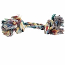 2 Knot Large Tug Rope Bone - Multi Color (8 inch)