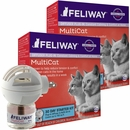 Feliway MultiCat Calming Diffuser Plug In for Cats Starter Kit, 2 Pack
