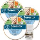 Seresto Flea & Tick Collar for Cats, 3-Pack & Tapeworm Dewormer, 3 Ct