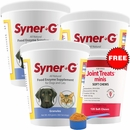 3-PACK Syner-G Digestive Enzymes Granules (1362 g) + FREE Joint Treats Minis