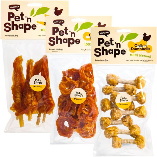3 Pack Variety Pet'n Shape Chik'n Treats