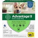4 MONTH Advantage II Flea Control for Extra Large Dogs (Over 55 lbs)