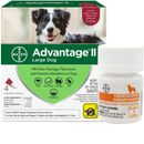 Advantage II Flea Control for Large Dogs 21-55 lbs, 4 Month with Tape Dewormer 5 Tablets