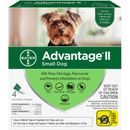 Advantage II Flea Control for Small Dogs 3-9 lbs, 4 Month