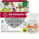 4 MONTH K9 Advantix II GREEN for Small Dogs (upto 10 lbs) + Tapeworm Dewormer for Dogs (5 Tablets)