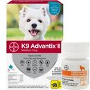 6 MONTH K9 Advantix II TEAL for Medium Dogs (11-20 lbs) + Tapeworm Dewormer for Dogs (5 Tablets)