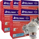 Feliway MultiCat Calming Diffuser Plug In for Cats Starter Kit, 6 Pack