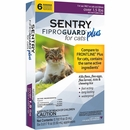 6-PACK SENTRY FiproGuard Plus Flea & Tick Spot-On for Cats (Over 1.5 lbs)