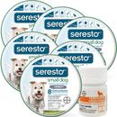 6-PACK Seresto Flea & Tick Collar for Small Dogs + Tapeworm Dewormer for Dogs (5 Tablets)