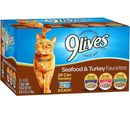 9 Lives Seafood & Turkey Favorites Variety Pack Canned Cat Food (24x5.5 oz)
