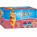 9 Lives Surf N' Turf Favorites Variety Pack Canned Cat Food (24x5.5 oz)