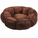 """Aspen Pet Puffy Round Cat Bed (18"""") - Assorted Colors"""