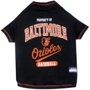 Baltimore Orioles Dog Tee Shirt - XSmall