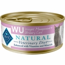 Blue Buffalo Natural Veterinary Diet - W+U Weight Management + Urinary Care Canned Cat Food (24-pack)