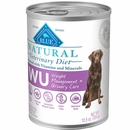 Blue Buffalo Natural Veterinary Diet - W+U Weight Management + Urinary Care Canned Dog Food (12-pack)
