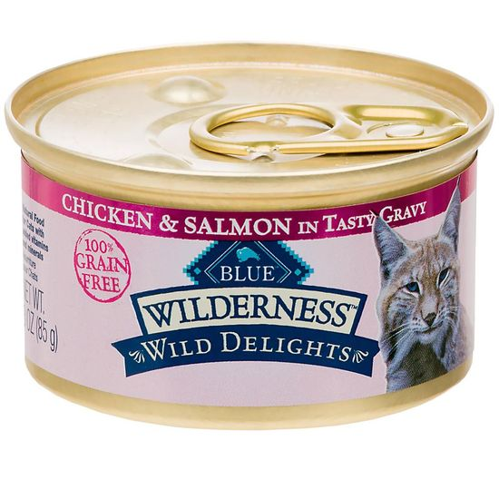 Blue Buffalo Wilderness Wild Delights - Chicken & Salmon Recipe (24x3oz)
