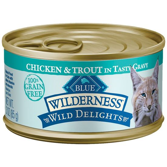 Blue Buffalo Wilderness Wild Delights - Chicken & Trout Recipe (24x3oz)