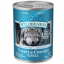 Blue Buffalo Wilderness Turkey & Chicken Canned Dog Food (12x12.5 oz)