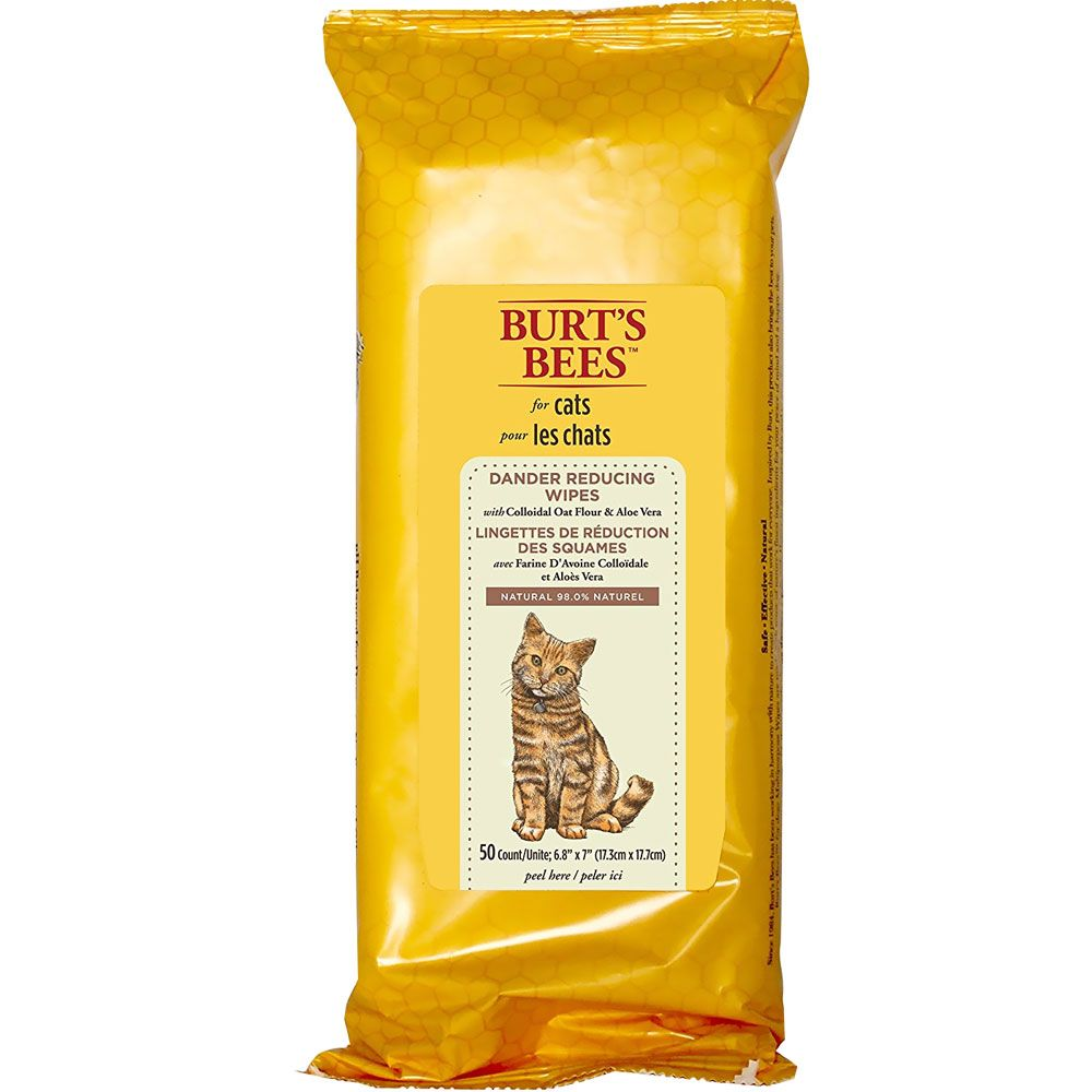 Burt S Bees Dander Reducing Wipes For Cats 50 Count