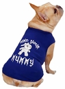 Casual Canine Mind Your Mummy Tee Blue - SMALL/MEDIUM