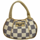Checker Chewy Vuiton Paris Handbag Plush Toy - Large
