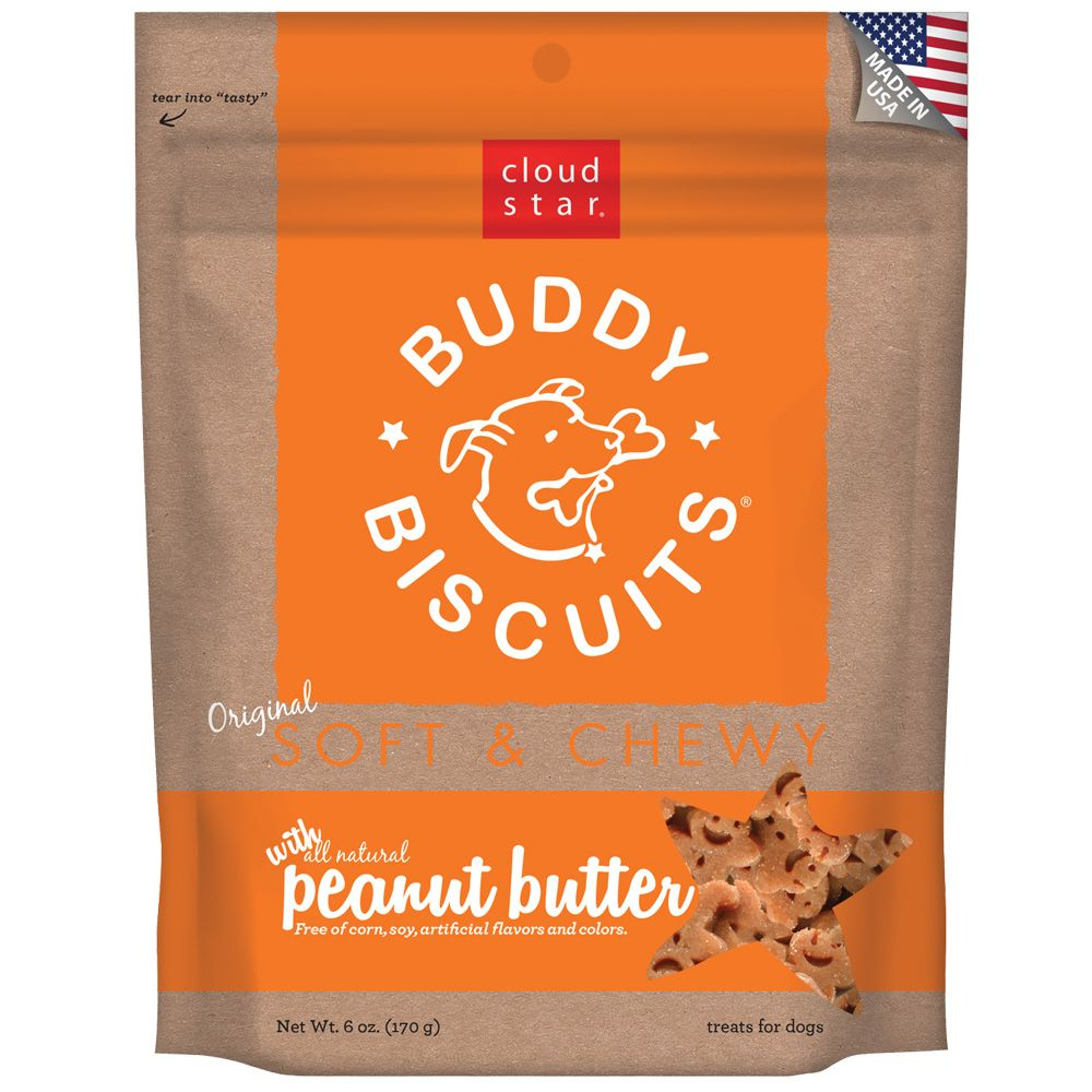Cloud Star Buddy Biscuits Soft & Chewy Dog Treats - Peanut