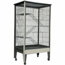 Critter Tower Small Animal Cage on Casters 4 Level Platinum/Black - Large