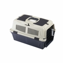 """Deluxe Pet Carrier with Skylight Storage Compartment and Seat Belt Case of 6 - Assorted (20""""x13""""x11"""")"""