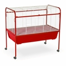 """Deluxe Rabbit Cage & Stand - Red (40""""x39.5""""x23"""")"""
