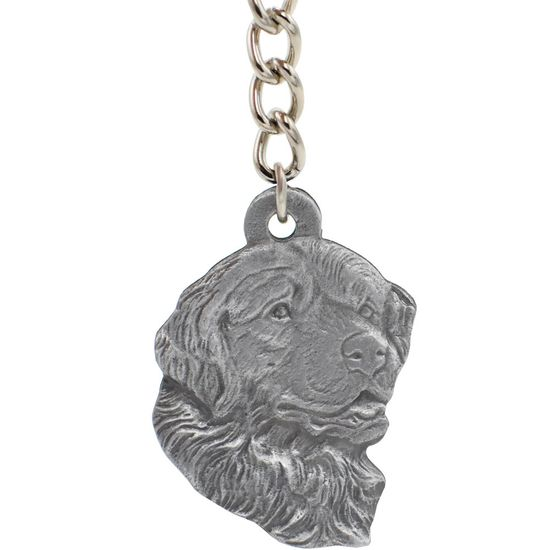 "Dog Breed Keychain USA Pewter - Bernese Mountain Dog (2.5"")"